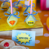 Girl Superhero Party Food Labels
