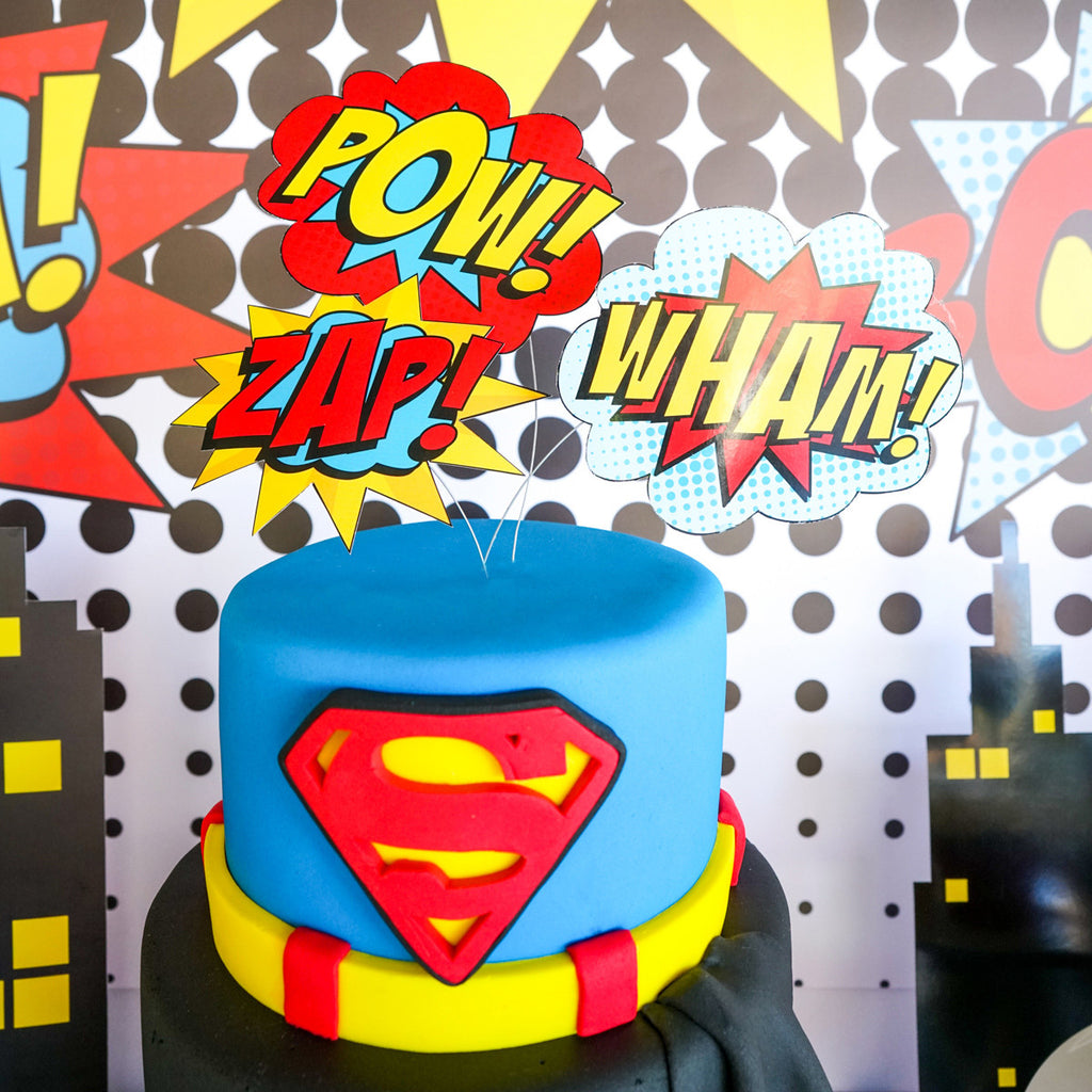 Magnificent Superhero Boy Cake Topper Superhero Party Decorations Sunshine Personalised Birthday Cards Bromeletsinfo