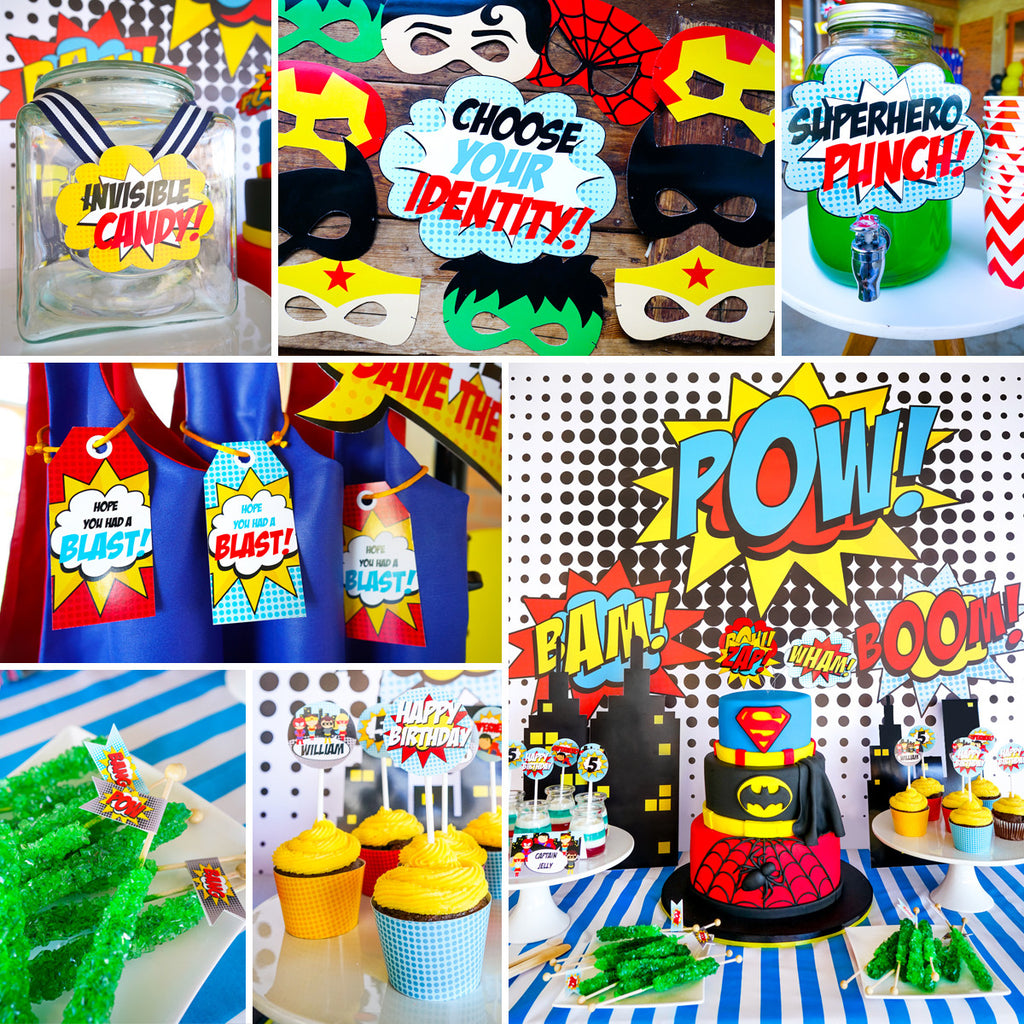 Superhero Boy Party Full Printable Set - includes everything you need for a 'powerful' superhero party!