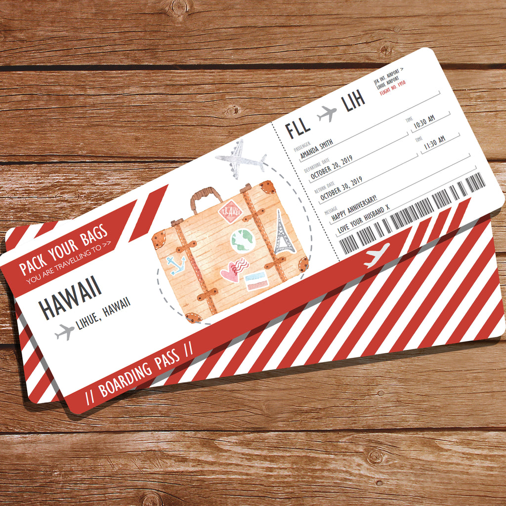 Surprise Gift Travel Ticket