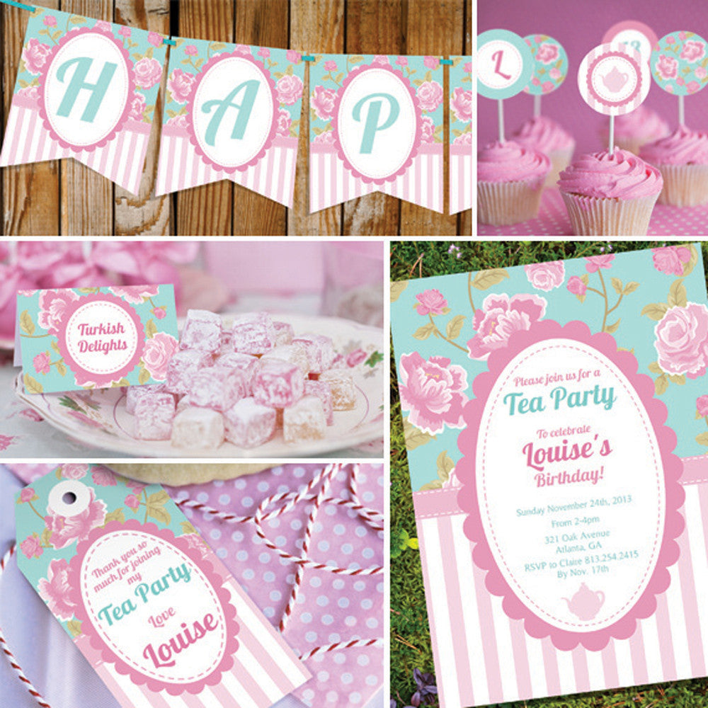 Shabby Chic Tea Party Decorations | Vintage Floral Party Decor