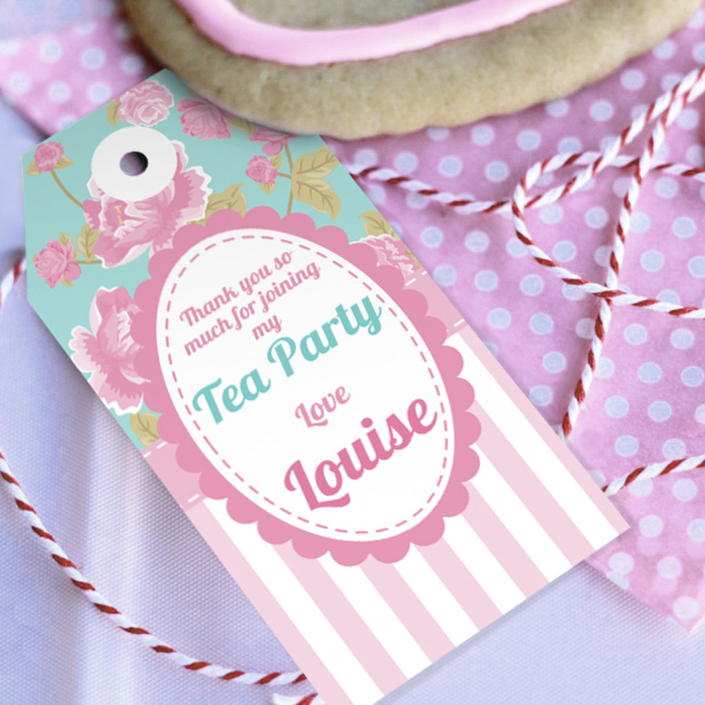 Shabby Chic Tea Party Favor Tags | Vintage Party Favors – Sunshine ...