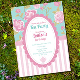 Shabby Chic Tea Party Invitation | Vintage Party Invite