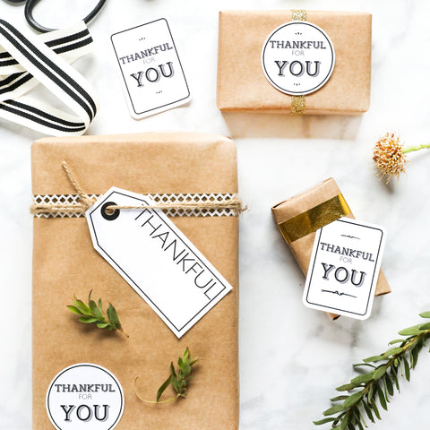 Thankful for you gift tags