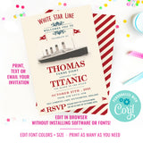 Titanic Birthday Party Invitation