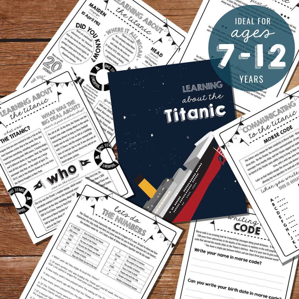 Titanic Study guide for kids