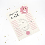 Tooth Mouse Full Set Girls | Official Certificate, Customer Receipt, Door Hanger, Visitor Poster, Letter, Tooth Report, Lost tooth chart