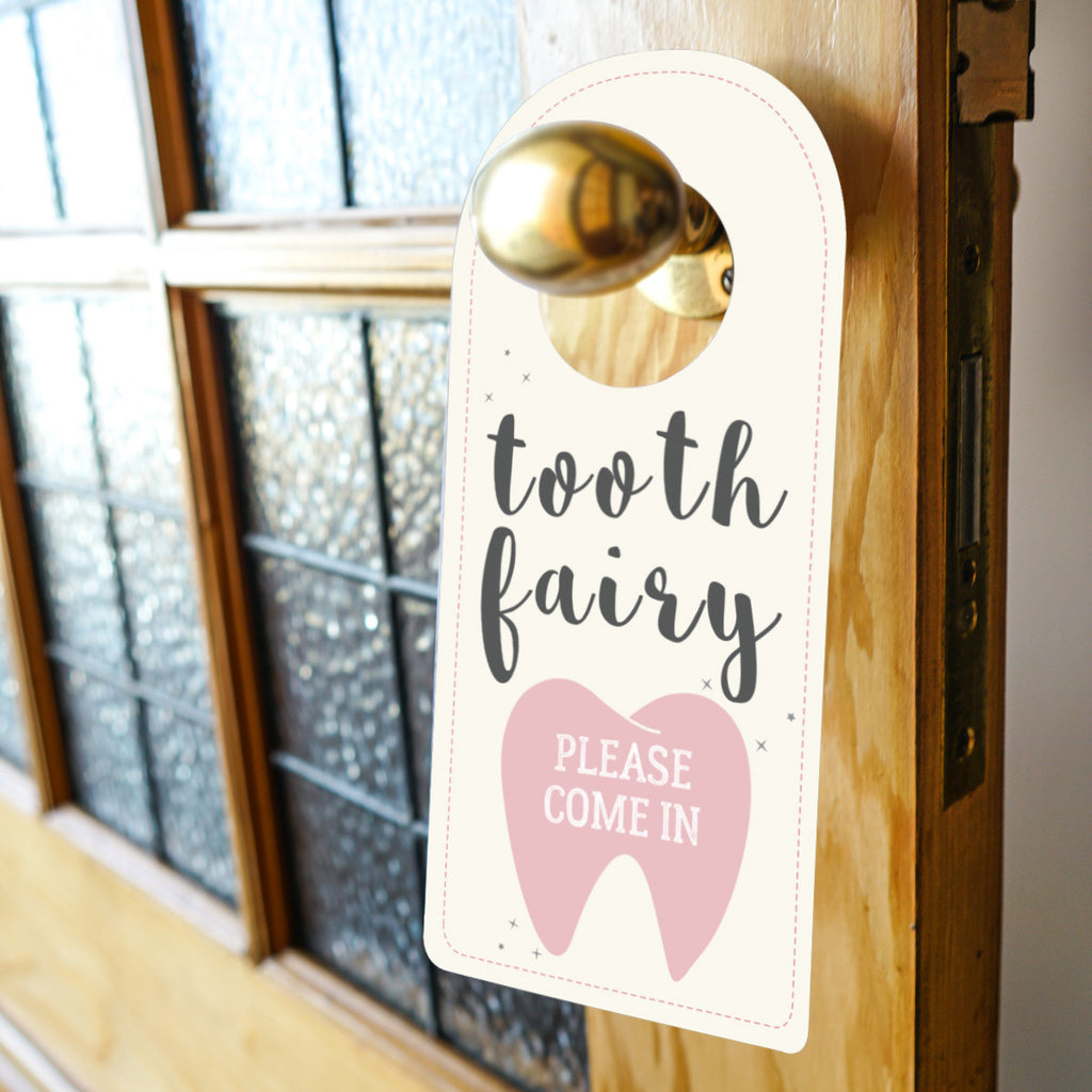 Tooth Fairy Door Hanger Sign