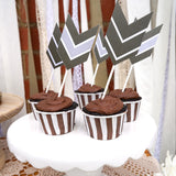 Tribal Birthday Party Arrow Toppers