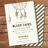 Tribal Birthday Party Invitations