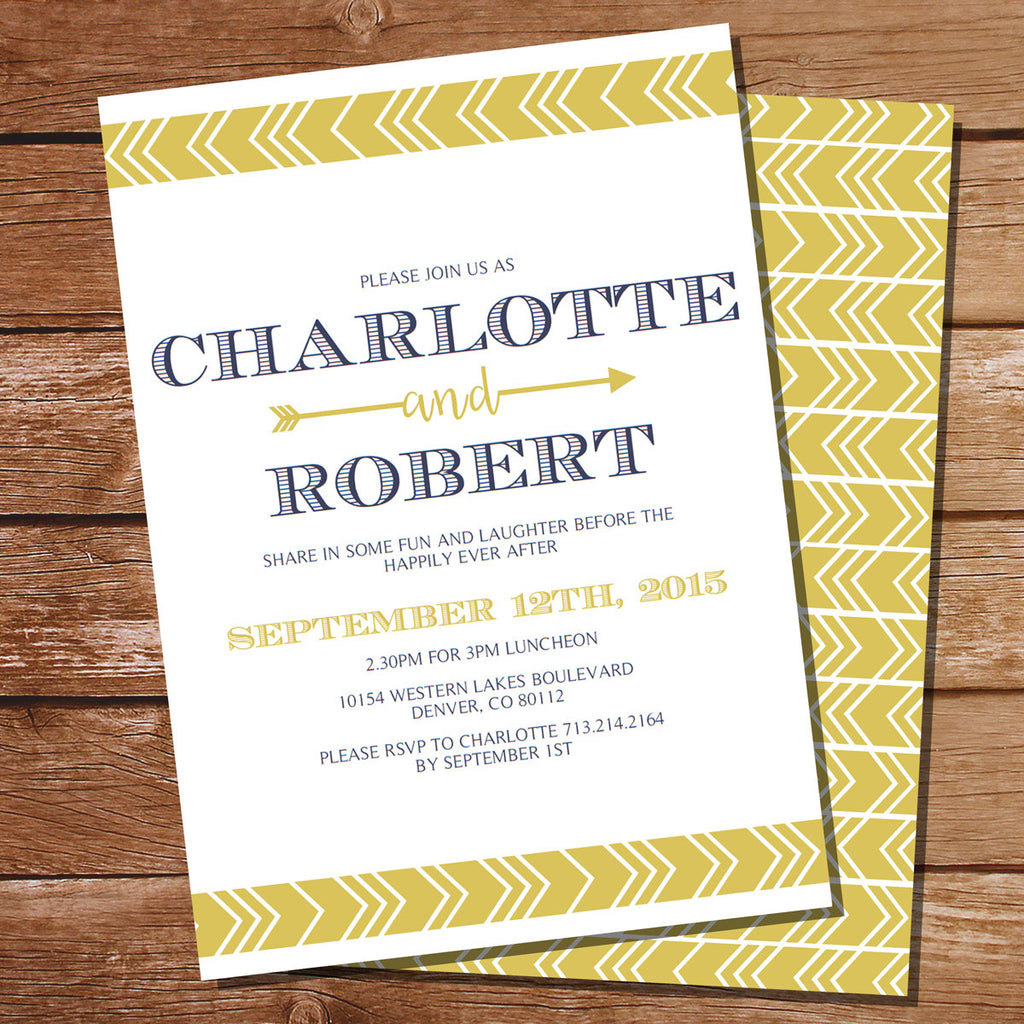 Tribal Rehearsal Dinner Invitation | Couples Shower Invitation