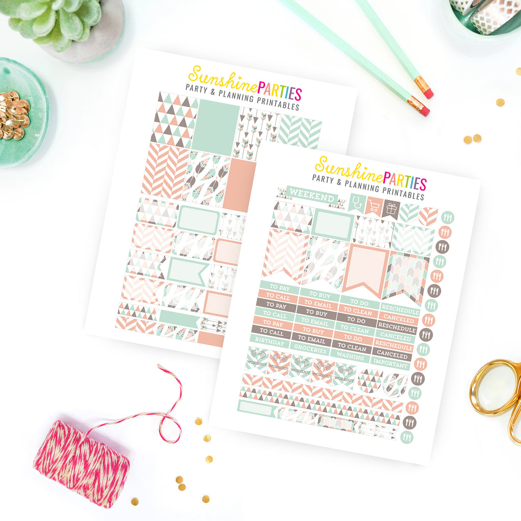Gorgeous Tribal Design Planner Stickers