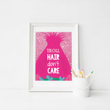 Troll Hair Don't Care Printable Poster