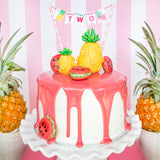 Tropical Party Mini Cake Bunting