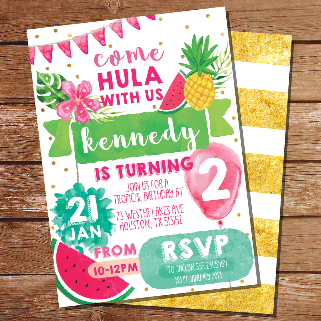 Tropical Party Invitation | Luau Hawaiian Party Invitation | Tutti ...