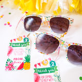Tropical Party Favor Tags