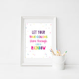 True Colors Printable Trolls Poster