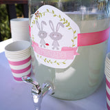 Girl's baby shower large drink label