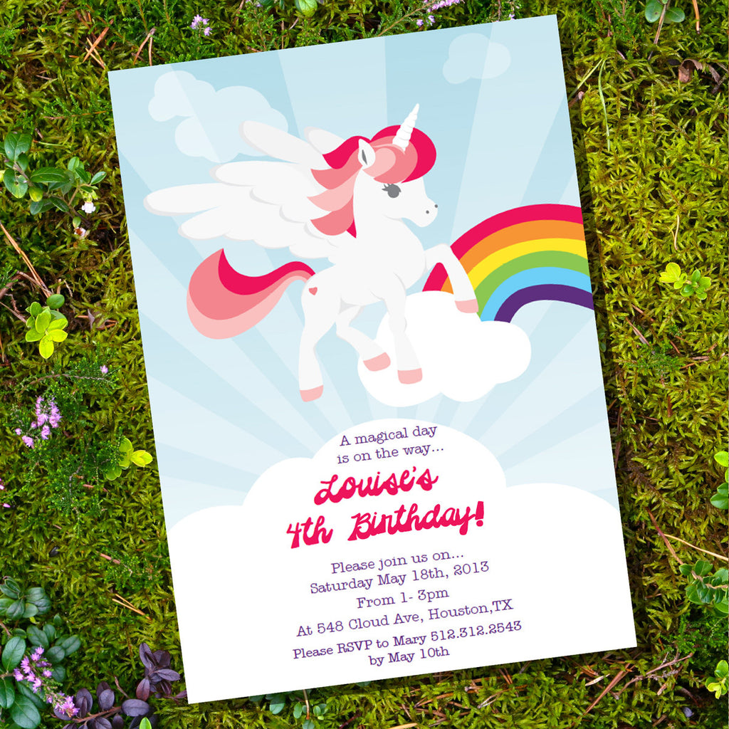 Unicorn Birthday Party Invitation – Unicorn Birthday Party Invitations