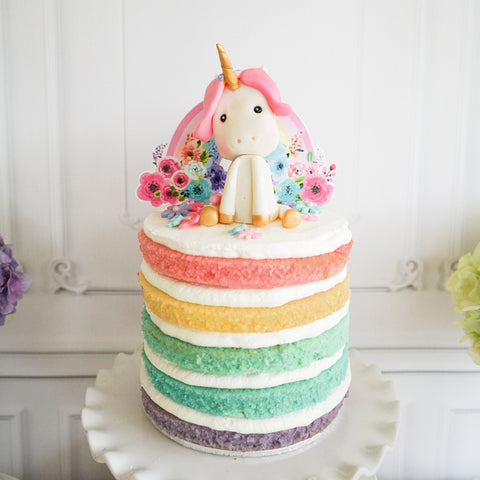 Unicorn Birthday Party Cake Topper | Unicorn Cake Topper | Gold Glitter Unicorn
