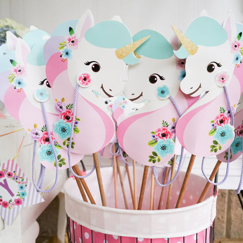 Unicorn Stick Horse Printable | Unicorn Hobby Horse | Unicorn Party Favor | Unicorn Party Game