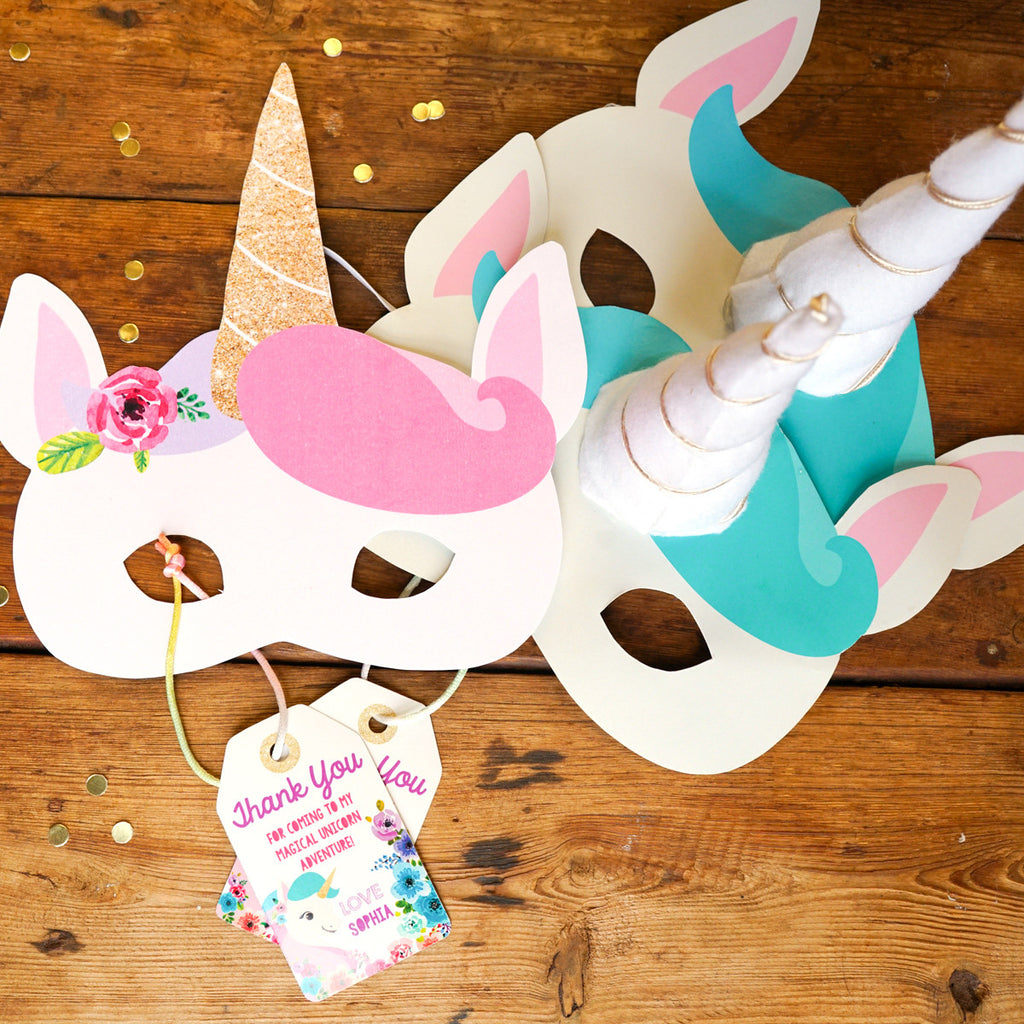 photo relating to Printable Unicorn Mask identified as Unicorn Birthday Get together Match Unicorn Masks