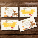 Woodland Baby Shower Food Label Tent Cards