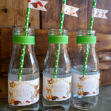 Woodland Baby Shower Water Bottle Labels | Unisex Baby Shower
