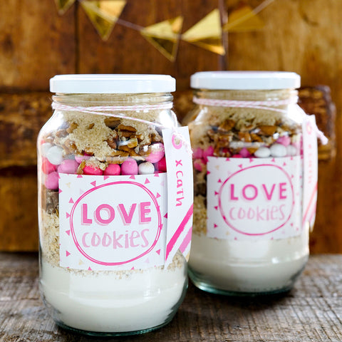 Love Cookie Jar Label and Recipe