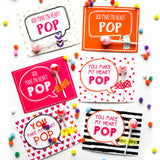 Valentine's Gift Cards and Tags for Kids - You Make My Heart Pop