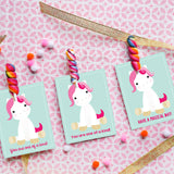 Magical Unicorn Valentine's Card