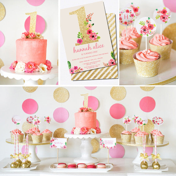 First Birthday Party Decorations For A Girl