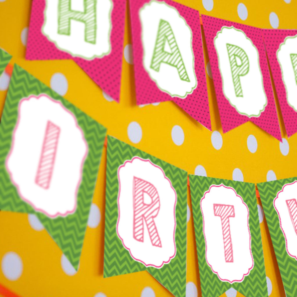 Summer Watermelon Party Birthday Banner | Pool Party