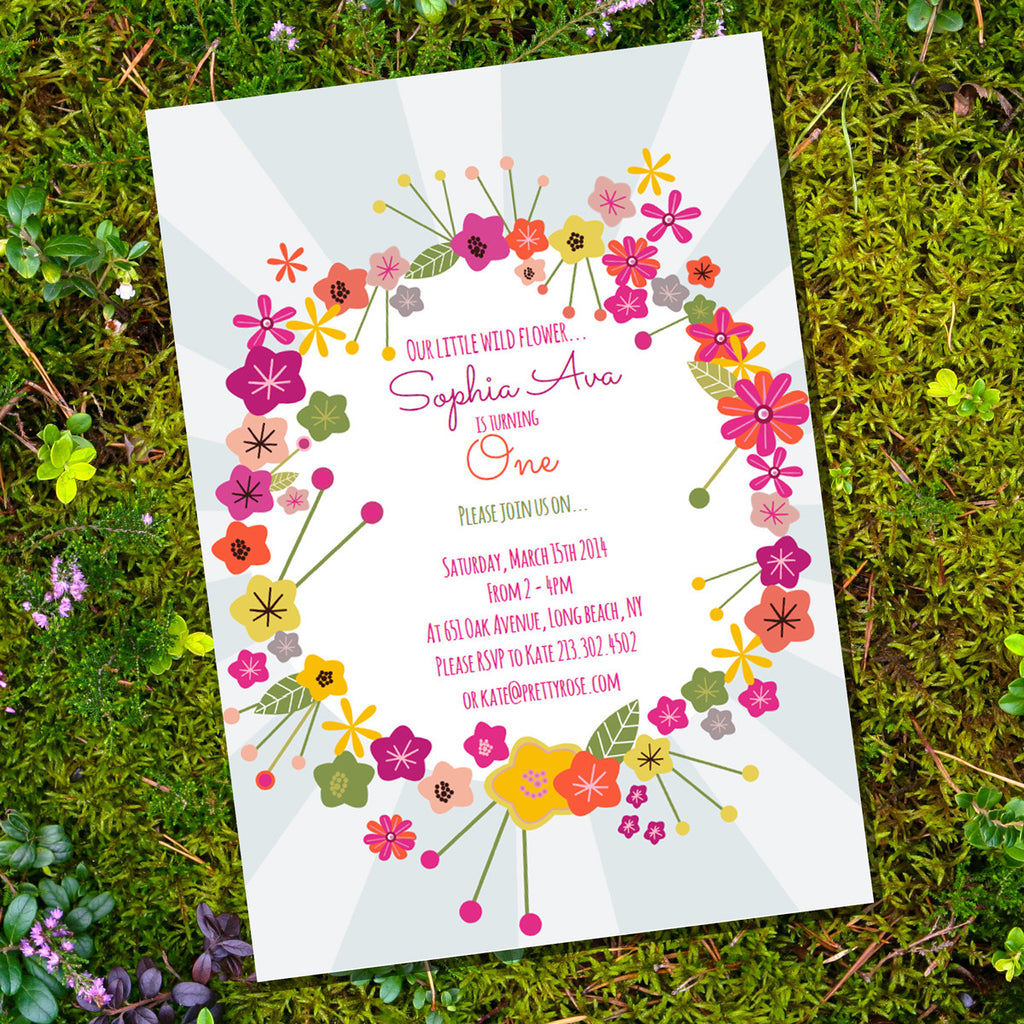 Wildflower Party Invitation | Flower Invite Template
