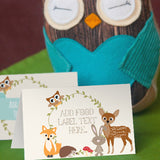 Woodland Baby Shower Food Labels