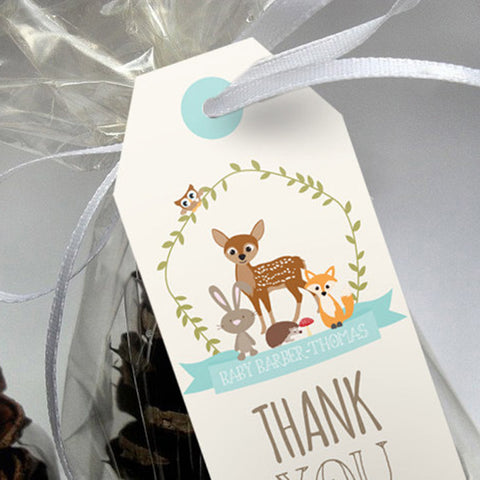 Woodland Baby Shower Favor Tags