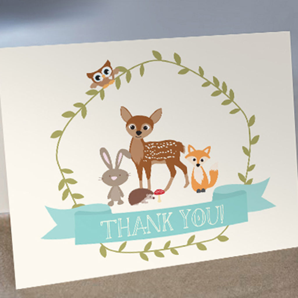 Woodland Baby Shower Thank-You Cards