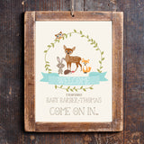 Woodland Baby Shower Welcome Sign