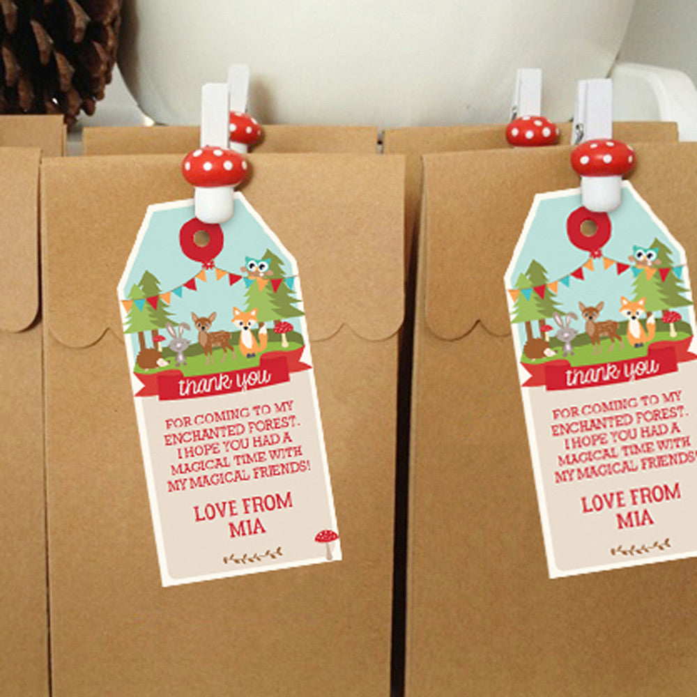Woodland Enchanted Forest Favor Tags