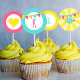 You Are My Sunshine Birthday Party Cupcake Toppers