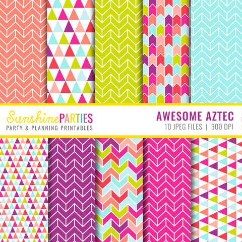 Awesome Aztec Digital Paper