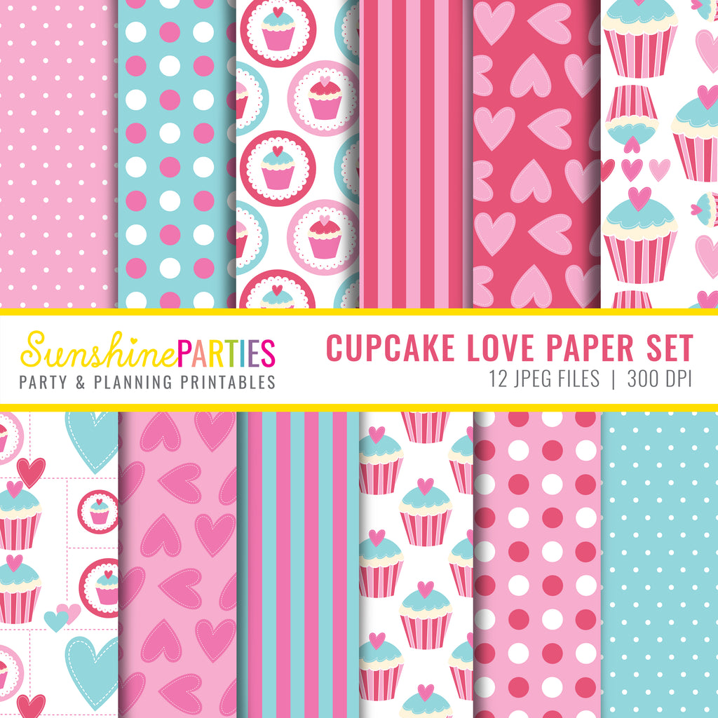 Cupcake Love Digital Paper Set