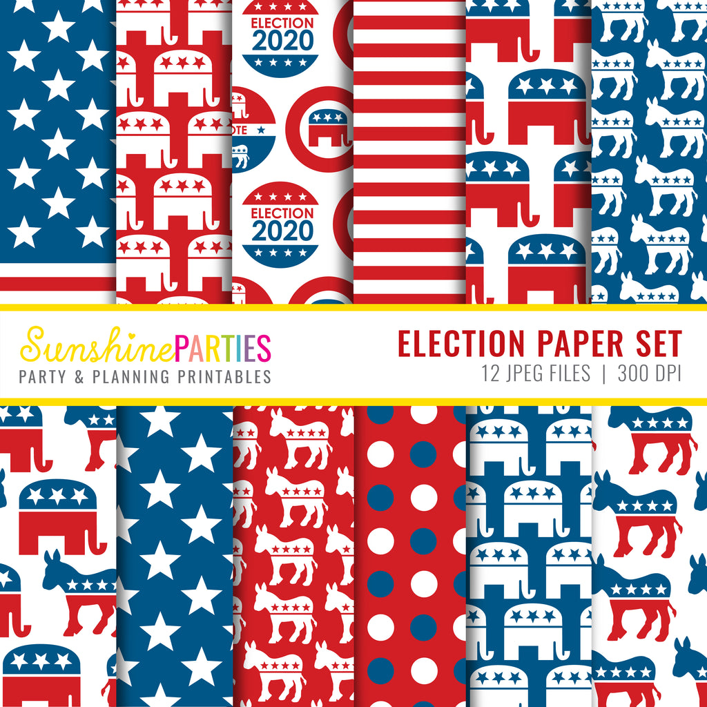 Election Digital Paper Set