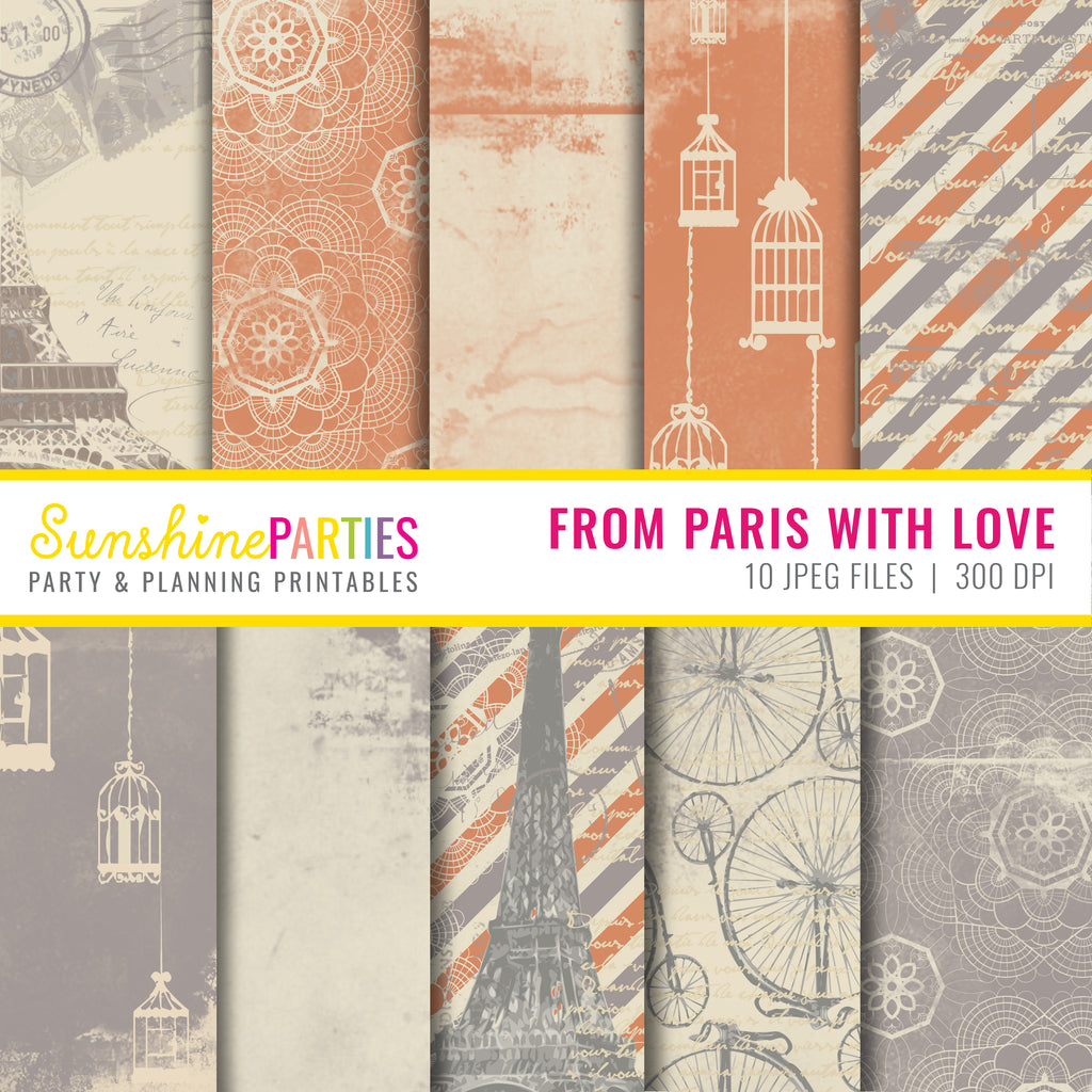 Vintage French Digital Paper Set
