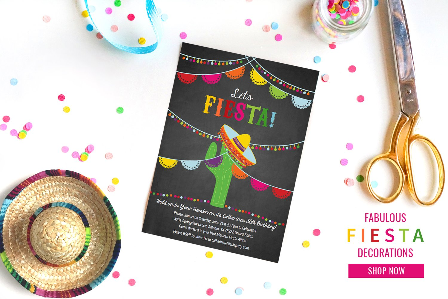 Sunshine Parties | Printable Invitations and Party Decorations