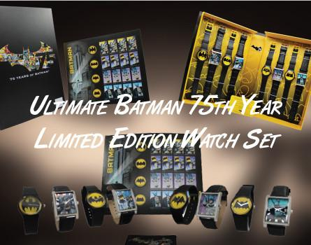 Ultimate Batman 75th Year Limited Edition Watch Set