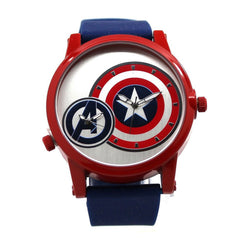 Captain America Avengers Dual Time Shield Mens Watch