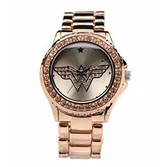 Wonder Woman Watch RoseGold with Light Peach Toned Stones