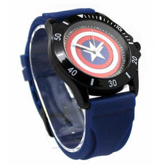 Captain America Blue Rubber Shield Watch