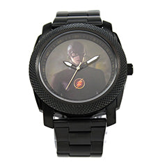 The Flash Grant Gustin Black Stainless Steel Watch